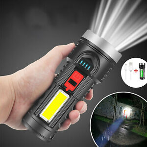 Super Bright 100000LM LED Torch Tactical Flashlight USB Rechargeable Handheld
