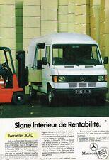 Publicité advertising 1985 Fourgon utilitaire Mercedes 307 D