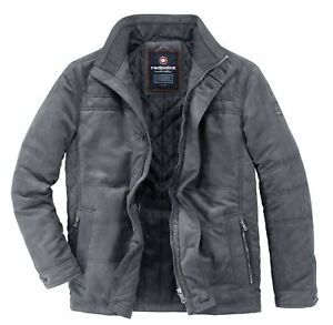 50dcb8398 Details about Redpoint Mens Tod Micro Suede Padded Jacket in Steel Grey
