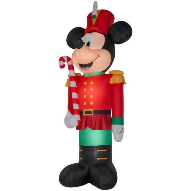 christmas disney 14 ft light up mickey mouse toy soldier airblown inflatable - Disney Inflatable Christmas Decorations
