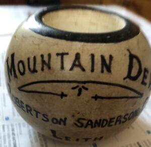Antique-SANDERSONS-LEITH-MOUNTAIN-DEW-WHISKY-ADVERTISING-MATCH-HOLDER-STRIKER
