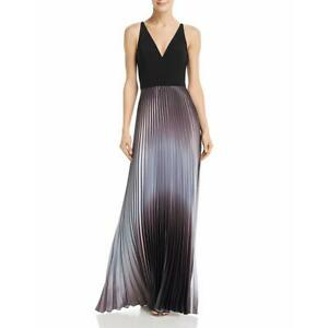 Aqua Womens Satin Pleated Formal Evening Dress Gown BHFO 4361