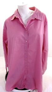WOMAN-WITHIN-WOMENS-SUGAR-PINK-COTTON-BLOUSE-SIZE-1X
