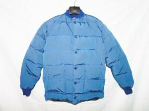 Vintage-Woods-XS-S-Mens-Blue-Coat-Northern-Rig-Down-Quilted-Snap-Front-Canada