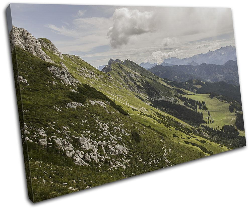 Mountains Landscape Landscapes SINGLE TELA parete arte foto stampa stampa stampa 56c5d0