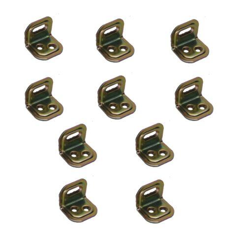 O38 Verbinder Winkel Stuhlwinkel Holzverbinder gelb verzinkt 10 Stück 25x30 mm