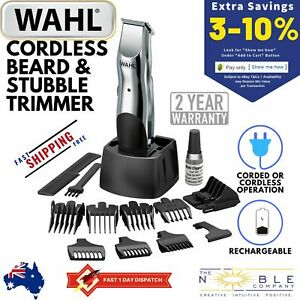 WAHL-Electric-Cordless-Rechargeable-Mens-Beard-Stubble-Mustache-Shaver-Trimmer