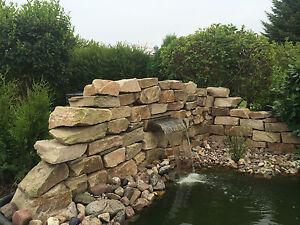 edelstahl wasserfall 750 koi teich garten speier wasserspiel, Garten und bauen