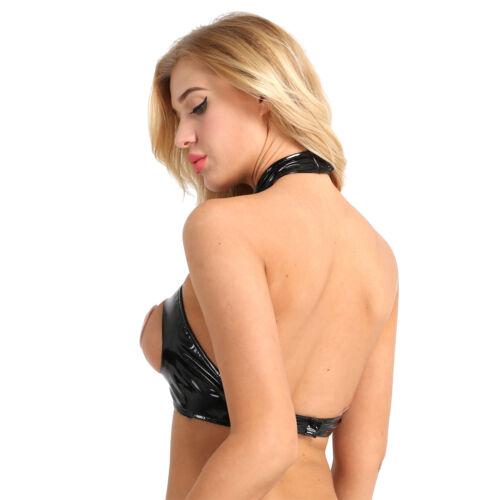 Women Open Chest Shelf Bra Bustier Wire Free Bralet Vest Top Lingerie Nightwear
