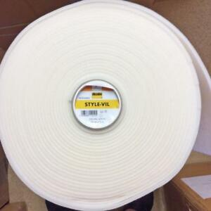 Details about 5 mtrs Style Vil 5W- Vilene White Sew in Foam Interfacing  Wadding Batting Fabric