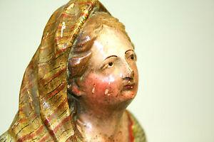 VIERGE-MARIE-BOIS-SCULPTE-ET-POLYCHROME-ESPANA-XVIII-XIX