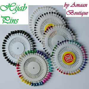 Pearl Hijab Scarf Safety Tailor Sewing Pin Wheel Multicolour