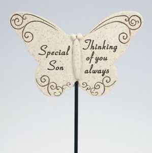 David-Fischoff-Special-Son-Butterfly-Stick-Grave-Memorial-Stone-Ornament