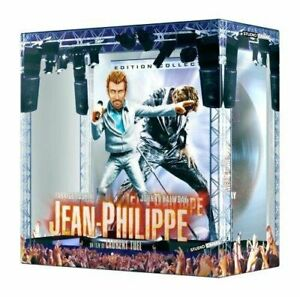 COFFRET-JEAN-PHILIPPE-DVD-HALLYDAY-FIGURINE-ANIMEE-45-T-NEUF-SOUS-CELLOPHANE