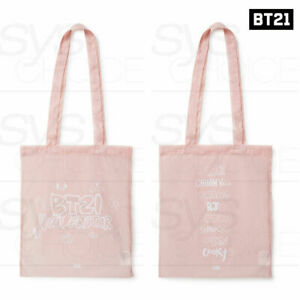 BTS-BT21-Official-Authentic-Goods-Pink-Collection-Pink-Nylon-Bag-2TYPE-Track