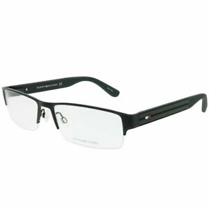 b2479232020 Tommy Hilfiger TH 1236 94X Matte Black Metal Semi-Rimless Eyeglasses ...