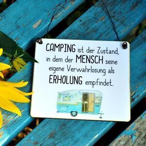 Schild Mit Lustigem Camping Spruch Ebay