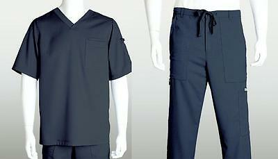 Grey's Anatomy Mens Scrub Set Steel 0103 Top with 0203 Pants Size Choice NWT