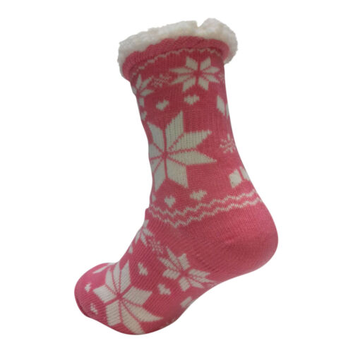 LADIES WARM THERMAL INSULATED THICK WINTER SOCKS 4.7 TOG UK 6-11 399C PINK