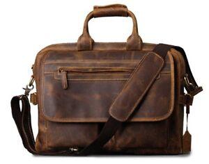 Leder-Umhaengetasche-17-Zoll-Laptop-Tasche-Business-Aktentasche-Schultertasche