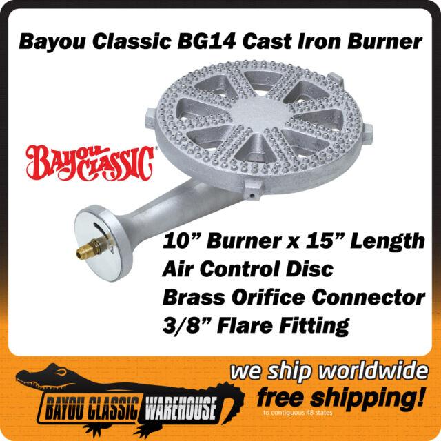Bayou Classic BG14 High Pressure Cast Iron Burner for LP Propane Gas Cookers