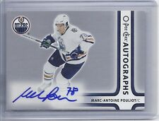 06-07 2006-07 O-PEE-CHEE MARC-ANTOINE POULIOT SIGNATURES AUTOGRAPH A-MP OILERS