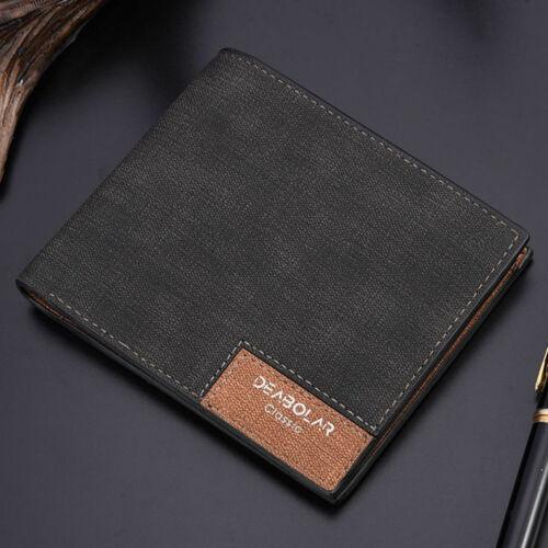 Men PU Leather Wallet Pocket Coin Card Money Holder Clutch Bifold Slim Purse New