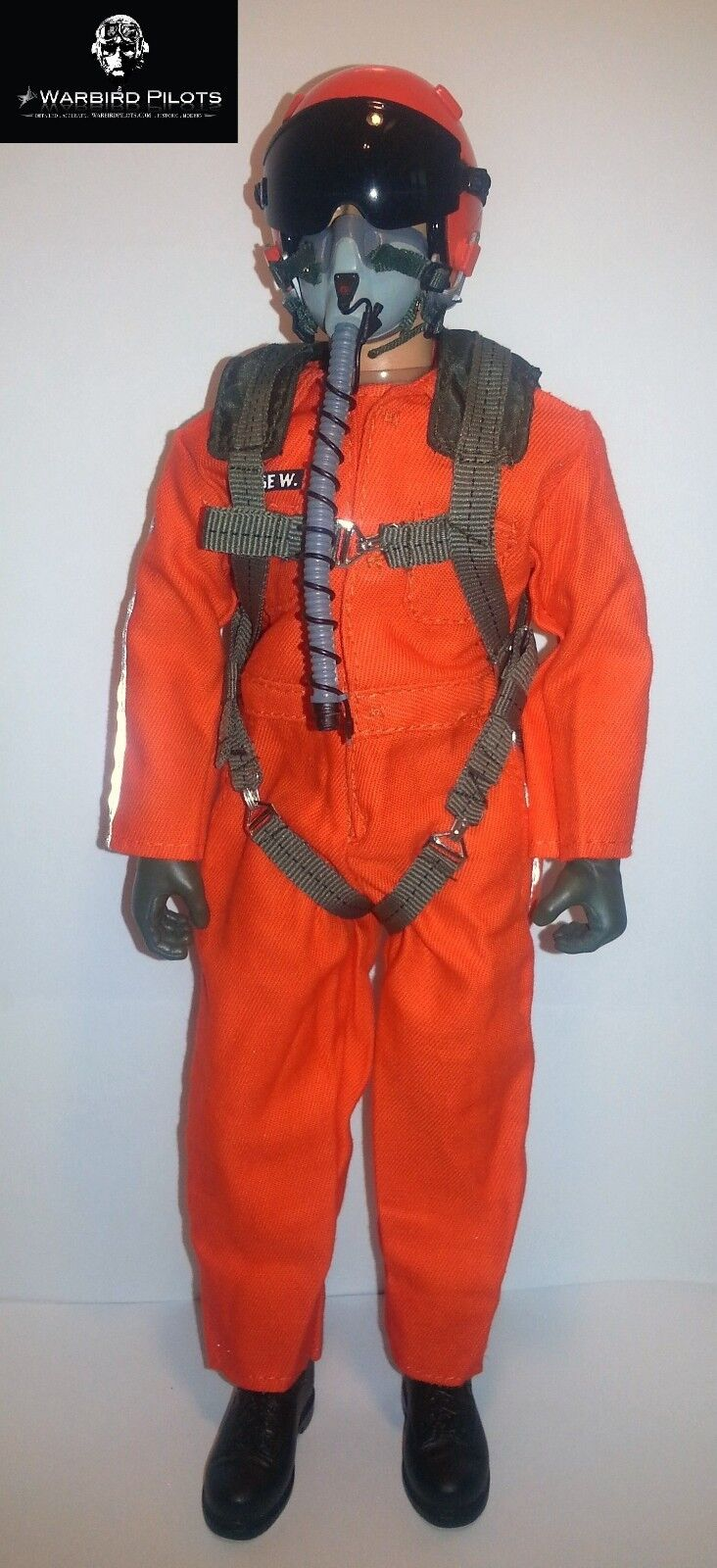 1 6  1 5 Scale 12  Tall Modern Jet Fighter Pilot Figure (orange)