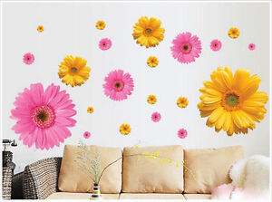 Removable 3D Big Sun Flower Decal Home Girl Bedroom Decor Vinyl Wall Sticker SP