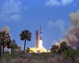 New 8x10 NASA Photo: Launch of Lunar Mission Apollo 16, Saturn V Rocket