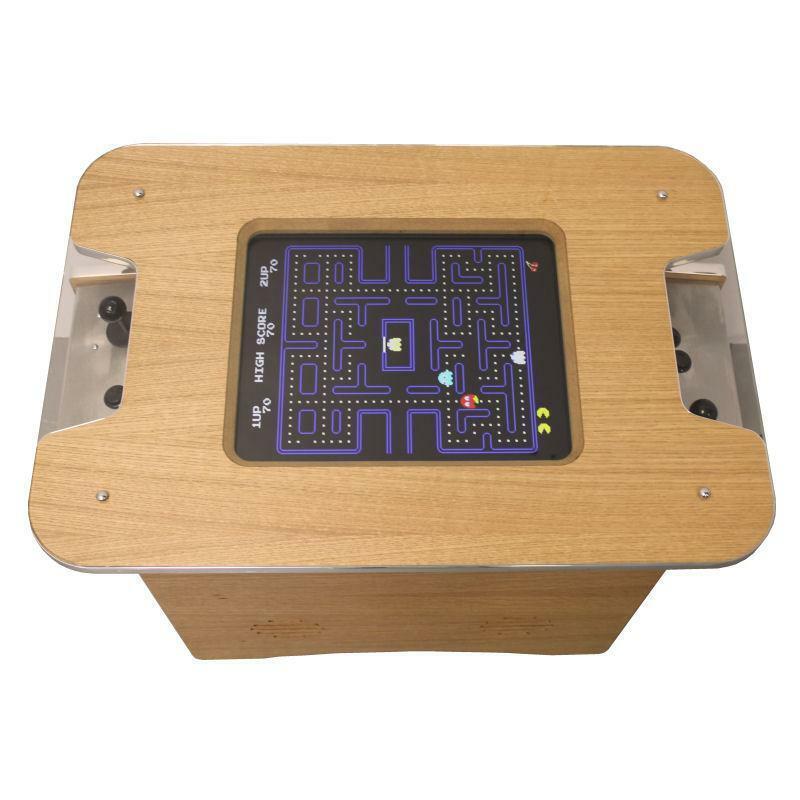 Oak Retro Arcade Coffee Table Arcade Machine   60 retro games   1yr Warranty