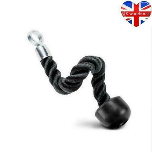 Single Rope Attachment Cable Gym Machine Tricep Push//Pull Down Cord Lat Bicep