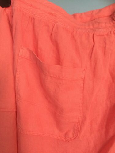 M/&S COLLECTION SIZE 24 LINEN RICH BNWT LADIES SHORTS PINK
