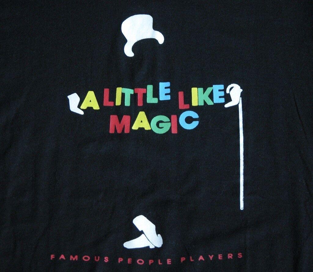Vtg 80s FAMOUS PEOPLE PLAYERS A LITTLE LIKE MAGIC T Shirt L LIBERACE Promo Pic