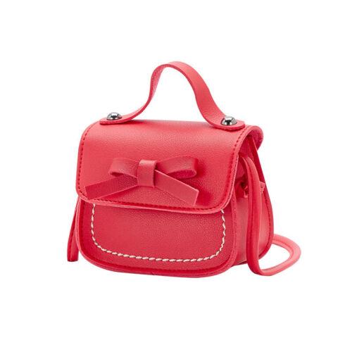 Details about  /Child Girl Leather Bow Handbag Crossbody Shoulder Messenger Bag Purse Wallet 83U