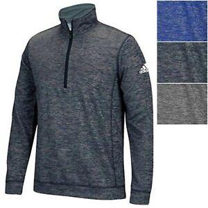adidas Men's ClimaWarm Team Issue 1/4 Quarter Zip Athletic Fleece Pullover Shirt