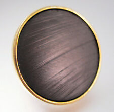 ANN TAYLOR Ebony Big Ring Designer Size 6 Statement Vintage Jewelry Jewellery
