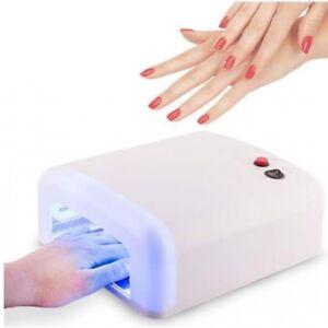 Lampara uñas led luz utravioleta 36w secador de uñas gel manicura pedicura uv