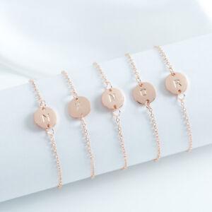 Rose-Gold-Girl-Alphabet-Letter-Initial-Friendship-Bridesmaid-Gift-Chain-Bracelet