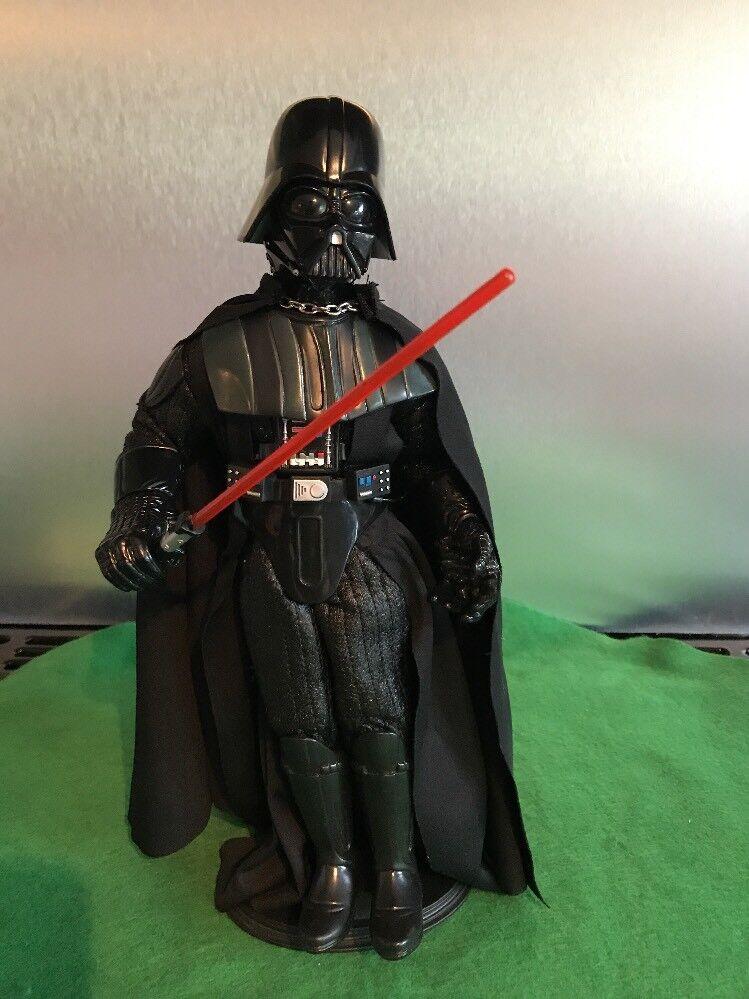 1997 Darth Vadar Hasbro Lucus Films Star Wars 12'' Figure Removable Helmet Hand