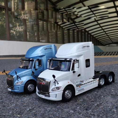 1//24 JAC GALLOP V7 American Truck Trailer Tractor Diecast Model Car White//Blue