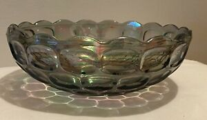 Federal-Vintage-Carnival-Glass-Iridescent-034-Colonial-Smoke-034-9-3-8-034-bowl