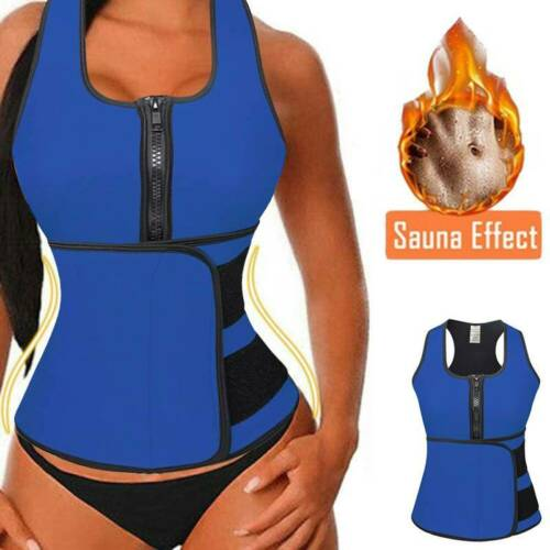 Details about  /Sauna Suit Sweat Waist Trainer Body Shaper Neoprene Vest Cincher Tummy Control