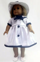 Doll Clothes Fits American Girl-sailor Dress And Matching Hat