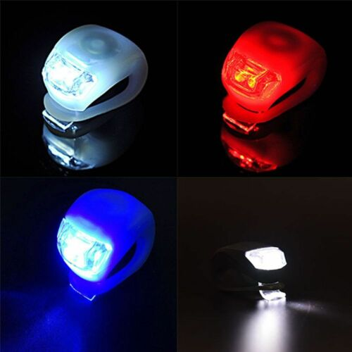 1 Silicone Bike Bicycle Cycling Head Front Rear Tail Wheel LED Light Lamp