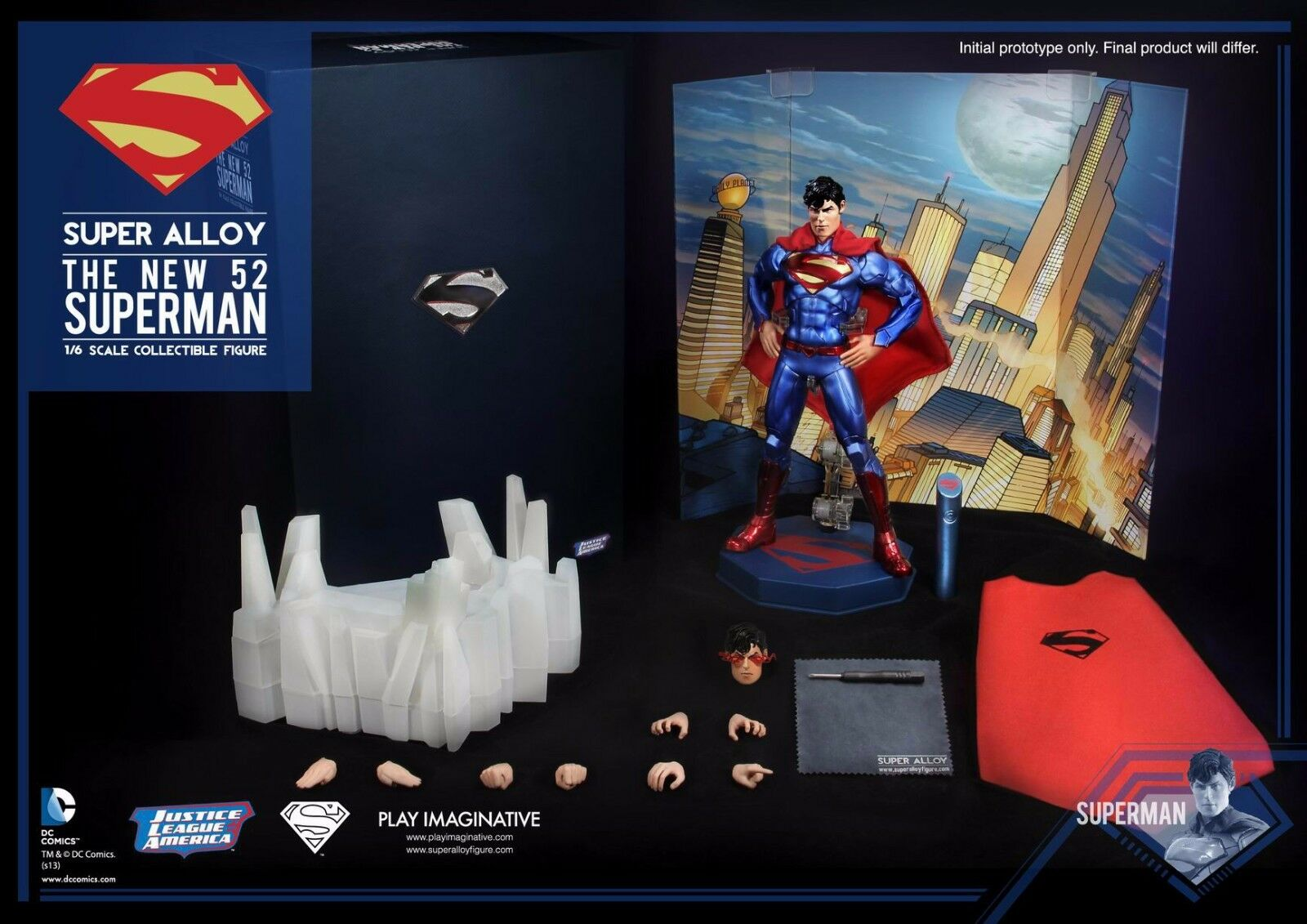 Play Imaginative DC Comic Justice League Super  tuttioy The nuovo 52 Superuomo 1 6 FIG  ampia selezione
