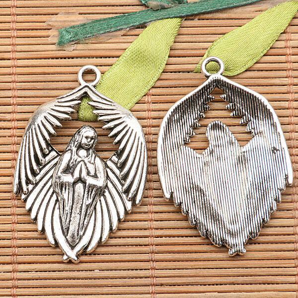 15pcs tibetan silver color couple wings design charms EF0231