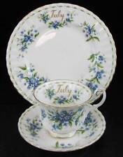 Royal Albert FLOWER OF THE MONTH Salad Plate + Cup & Saucer July GOOD CONDITION