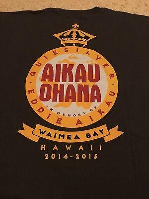 Vintage Quick Silver Eddie Aikau Hawaii 2014-2015 Ohana t shirt gildan reprint