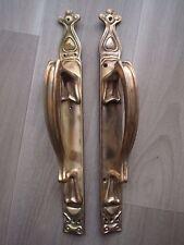 BRONZE ART NOUVEAU POIGNEE PORTE 46cm 1900 JUGENDSTIL PULL HANDLE GIBBONS LIBERT